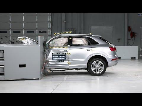 2016 Audi Q3 small overlap IIHS crash test