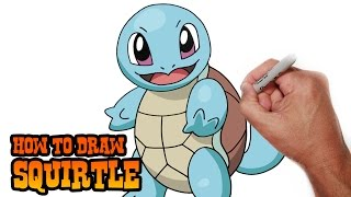 How to Draw Squirtle- Pokemon- Video Lesson(Learn how to draw Squirtle from Pokemon in this easy step by step video tutorial. All my lessons are narrated and drawn in real time. I carefully talk through each ..., 2015-05-06T06:59:32.000Z)