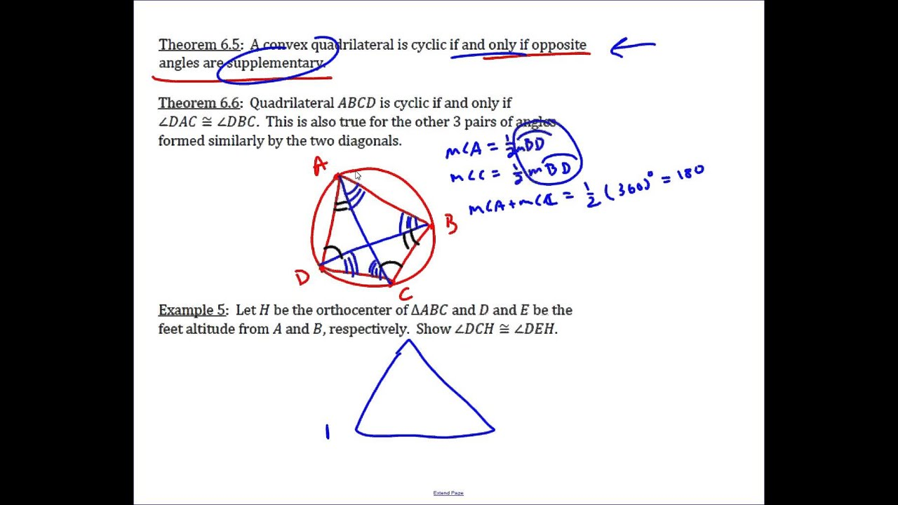 Basic properties of cyclic quadrilaterals youtube basic properties of cyclic quadrilaterals ccuart Gallery