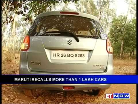 Maruti Suzuki Recalls Over One Lakh Units
