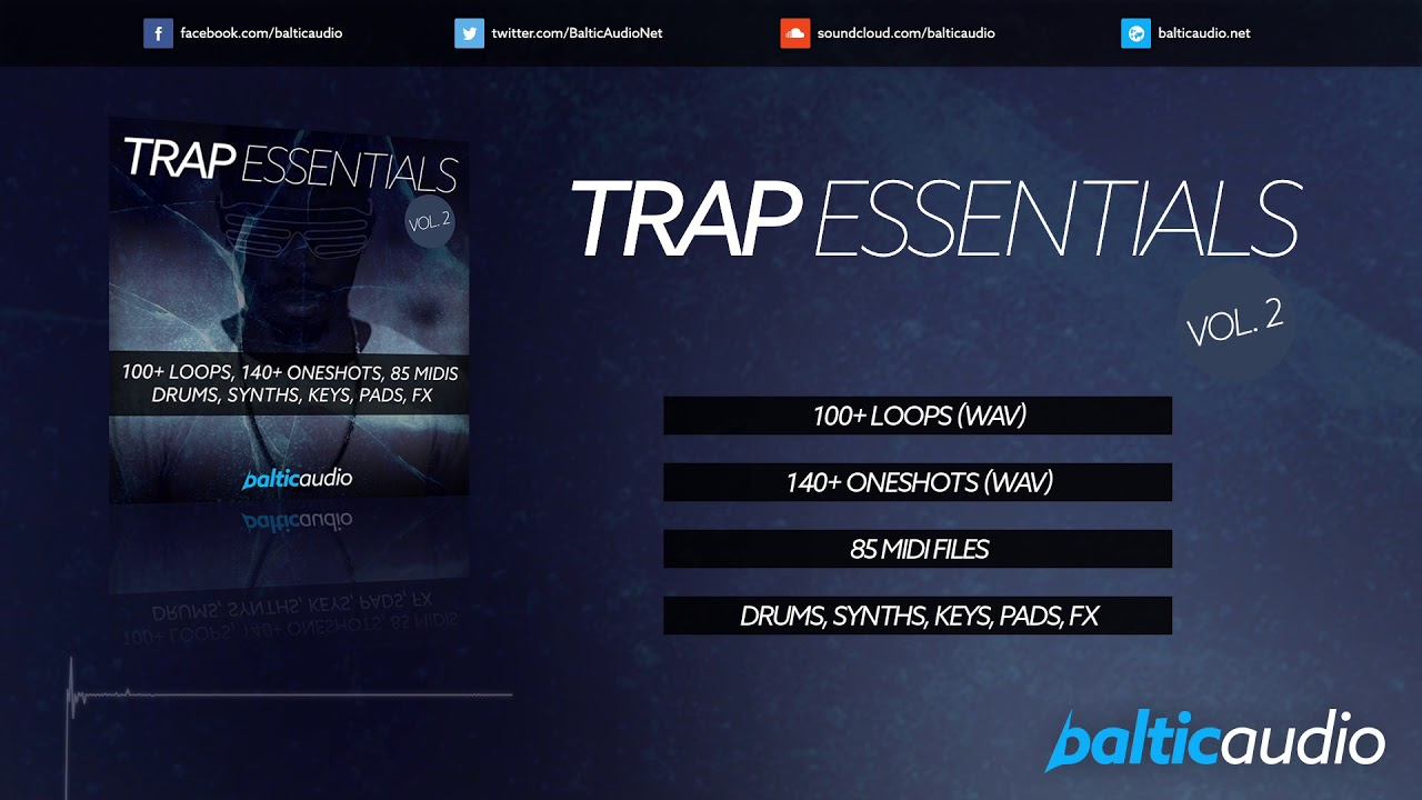 Trap Essentials Vol 2 (100+ Loops, 140+ Oneshots, 85 MIDI Files)