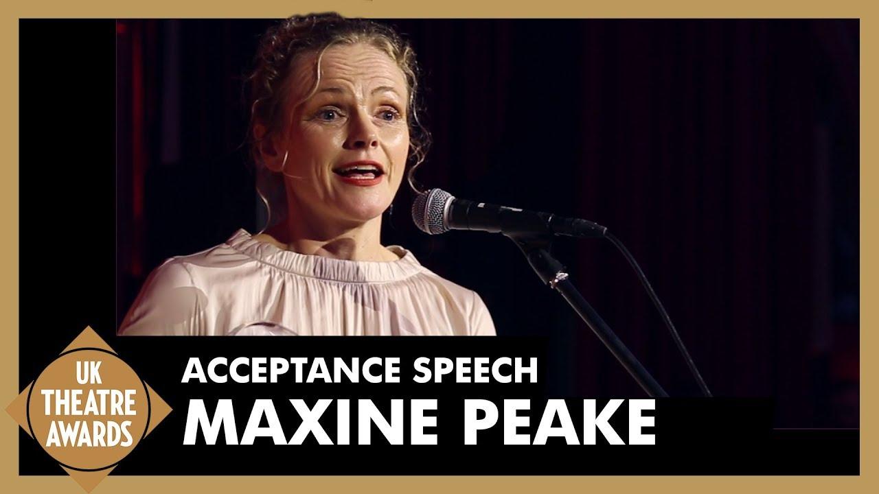 Maxine Peake - Acceptance Speech - UK Theatre Awards 2018