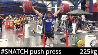 SNATCH Push Press 225kg/495lb / A.TOROKHTIY (World Championships, HUSTON 2015)
