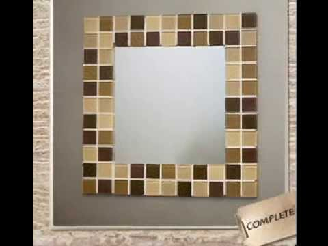 Easy DIY ideas for mirror frame decorations - YouTube