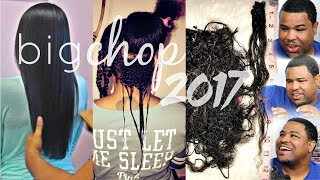 BIG CHOP 2017| 12 MONTHS POST| RELAXED- NATURAL| HUSBANDS REACTION & HELP CUTTING MY HAIR
