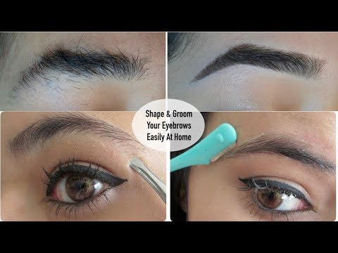 How to shape and groom your eyebrows easily at home || Mamtha Nair