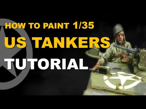 How to Paint 1/35  US Tank Crew Figure Painting Tutorial