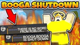 BOOGA BOOGA IS SHUTDOWN? *UPDATED* (Roblox Booga Booga)