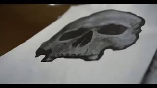Аэрография Владивосток Skull  from skrimtattoo