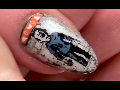 Banksy Instagram Boy Nail Art Design