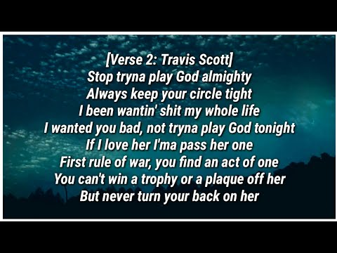 Travis Scott - STOP TRYING TO BE GOD (Lyrics) ft. James Blake, Kid Cudi & Stevie Wonder