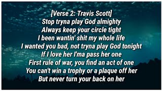 Travis Scott - STOP TRYING TO BE GOD (Lyrics) ft. James Blake, Kid Cudi & Stevie Wonder