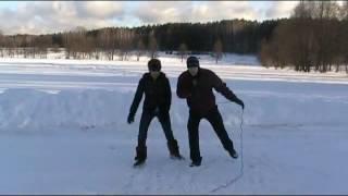 Как научиться кататься на коньках. Урок 1