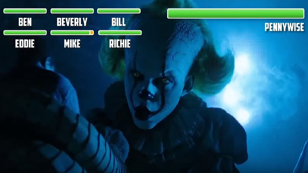 Download Pennywise vs. The Losers Club WITH HEALTHBARS (PART 1)  Final Battle   HD   It: Chapter 2