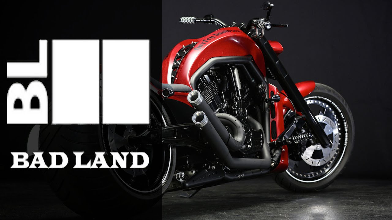 Harley Davidson V Rod Neon Night By Bad Land Motorcycle Muscle