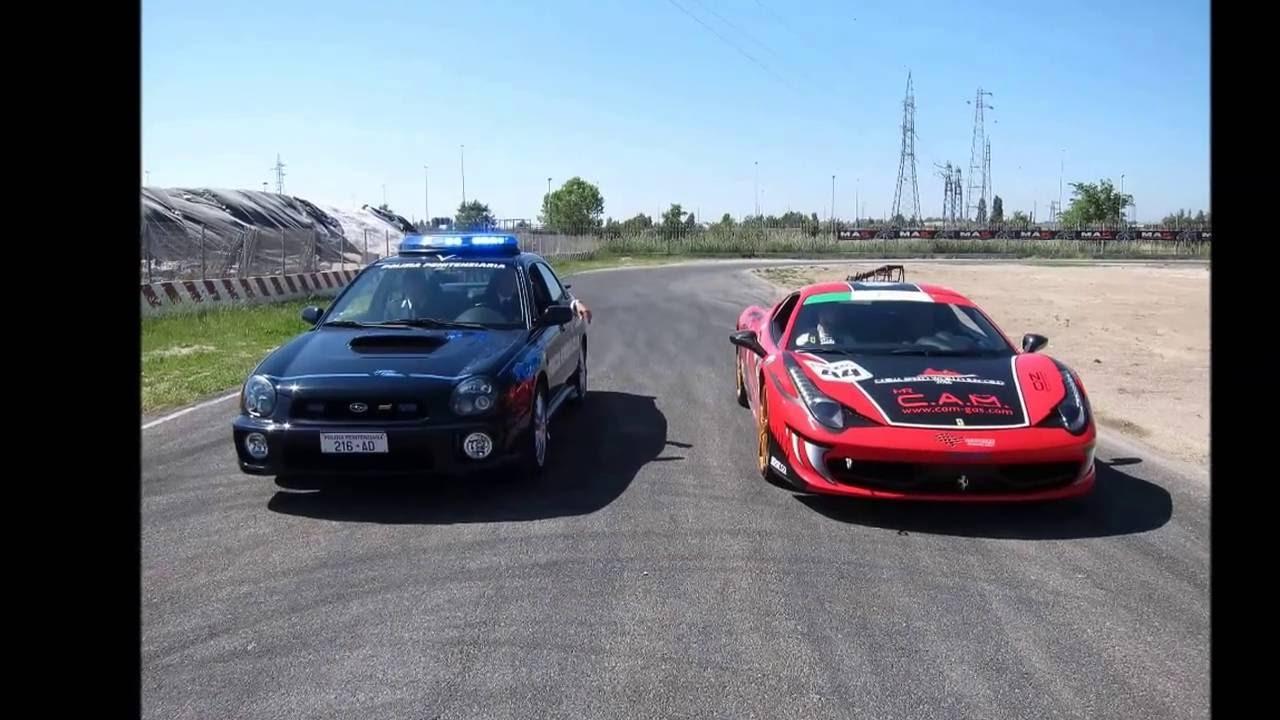 Ferrari 458 vs subaru impreza polizia youtube ferrari 458 vs subaru impreza polizia freerunsca Choice Image