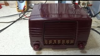 Repair Of A 1949 FADA Model 855 AA5 AM Tube Radio