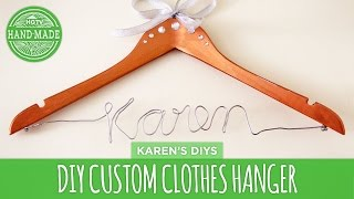 Personalized Name Hanger Diy - Hgtv Handmade