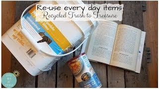 RECYCLE TRASH TO TREASURE | REUSE EVERYDAY ITEMS | DIY BOOK IDEAS | STORAGE ORGANIZE | ARTEZA HOBBY