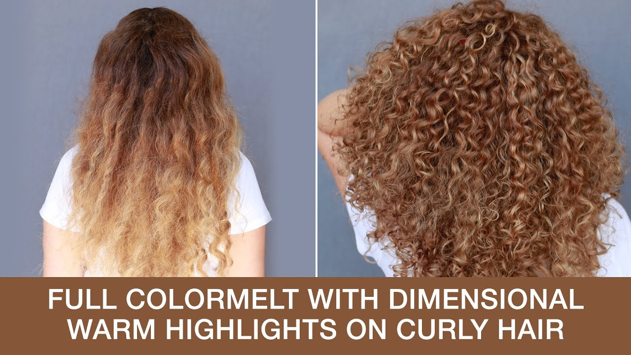 Full Colormelt with Dimensional Warm Highlights on Curly Hair | Kenra Color