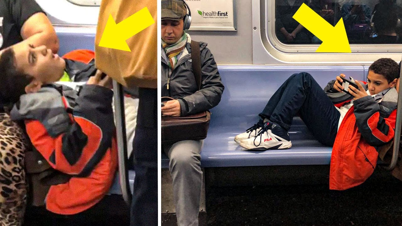 Download This Kid Refused To Move His Legs On The Subway, So A Stranger Taught Him A Lesson