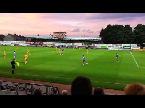 Stags football game, Mansfield, Nottinghamshire, UK ( edited )