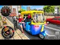 Modern tuk tuk rickshaw driving  city mountain auto driver  android gameplay