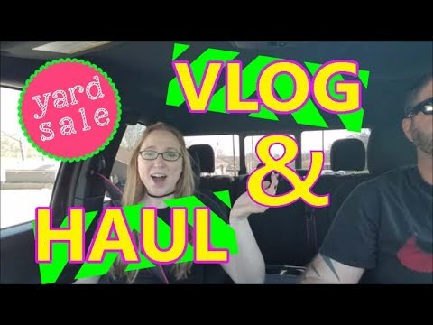Yard Sale VLOG Shopping & Haul Follow Me Around