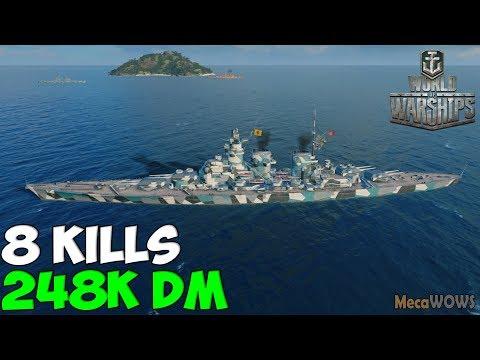 World Of WarShips | Friedrich Der Große | 8 KILLS | 248K Damage - Replay Gameplay 4K 60 Fps