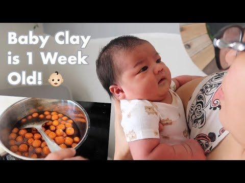 Vlog #249   OMY BIKIN BIJI SALAK, HAPPY 1 WEEK DD CLAY!👶🏻❤️
