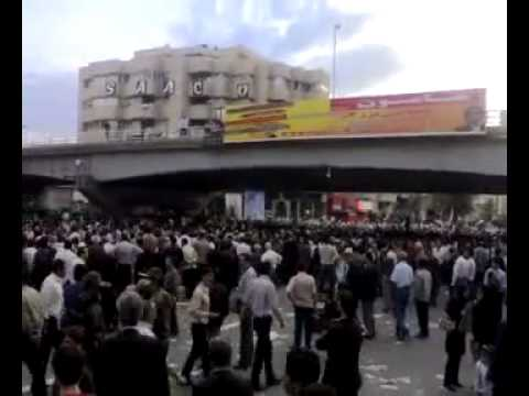 Tabriz Iran 13 June 2009 - Mousavi supporters demonstration