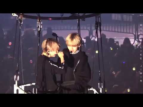 TAEHYUNG AND JIMIN [BTS] IN THE BALLON WINGS TOUR FINAL DAY 2