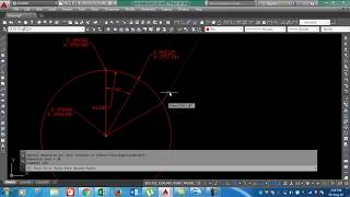 how to calculate coordinates of circle with required angle in ms excel and auto cad in urdu hindi