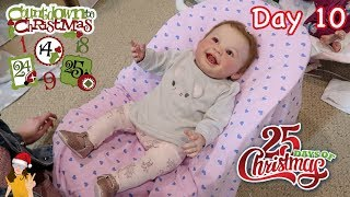 Reborn Countdown to Christmas! Changing Baby Harlow - Day 10 | Kelli Maple