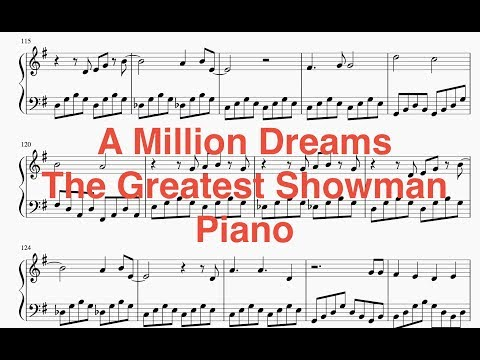 A Million Dreams (The Greatest Showman) - Piano