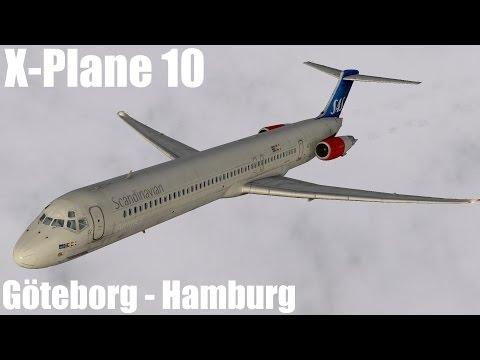 Schweizer Let's Play X-Plane 10: Göteborg nach Hamburg in der MD-80