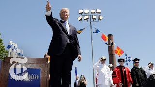 President Donald Trump Speech At Coast Guard Academy Commencement (Full) | The New York Times