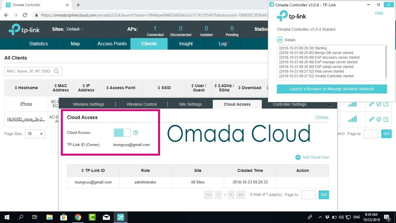 TP-LINK : How to Enable Omada Cloud controller