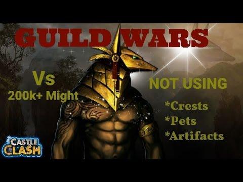Castle Clash Guild Wars Anubis, Michael, Cupid,...  NO Pets,artifacts,crests