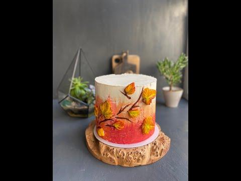 "Осенний торт ""Абрикос-апельсин"""