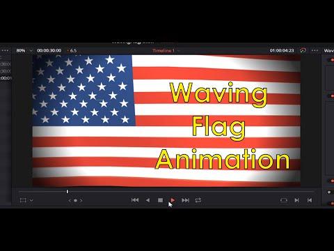 DaVinci Resolve 16: How To Make A Waving Flag Animation