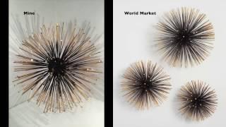 DIY   WORLD MARKET INSPIRED GOLD SEA URCHIN WALL DECOR