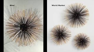 Diy | World Market Inspired Gold Sea Urchin Wall Decor Video