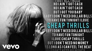 Sia - Cheap Thrills (Karaoke) + Lyrics + Backing Vocals | Vevo