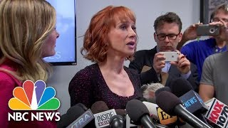 A Tearful Kathy Griffin On President Donald Trump Reaction To Photoshoot: 'He Broke Me' | NBC News
