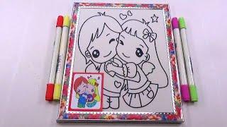 Đồ chơi trẻ em - Tranh tô màu hình công chúa - Color Sand Paint