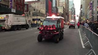 RARE CATCH OF THE FDNY EMS GATORS TEAMS DEPLOYING FOR THE 2016/2017 TIMES SQUARE BALL DROP IN NYC.