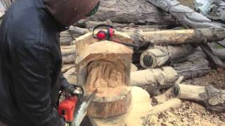 Chainsaw Carving Nativity Scene