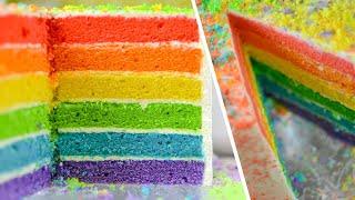 Радужный Торт - самый детский праздничный торт с нежным сливочным кремом - Rainbow Cake