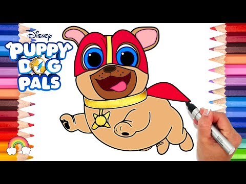 Captain Dog Puppy Dog Pals Coloring Page | Puppy Dog Pals Game | Disney Jr. Printable Coloring Page